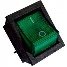 Кнопка переключатель 30А  (цвет-зеленый)