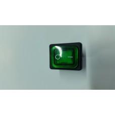 Кнопка переключатель клавишный 30А с защитой  (цвет-зеленый)