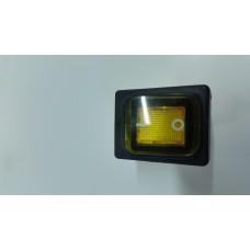 Кнопка переключатель клавишный 30А с защитой  (цвет-желтый)