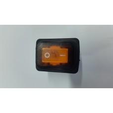 Кнопка переключатель клавишный 30А с защитой  (цвет-оранжевый)