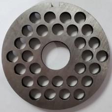 Решетка мясорубки МИМ-300-c-буртом-крупная (82, 22,5)
